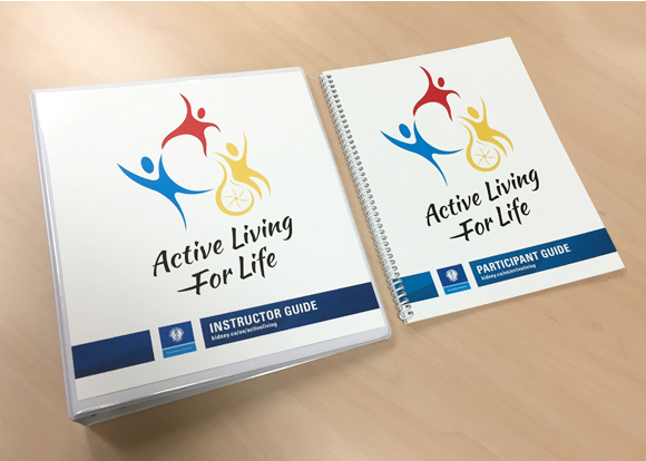 Not-for-profit brand development: Active Living for Life materials