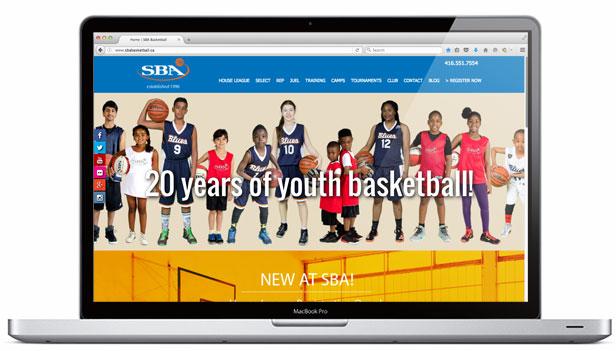 sba basketball website