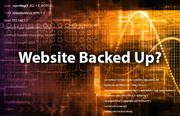 is your website backed up?