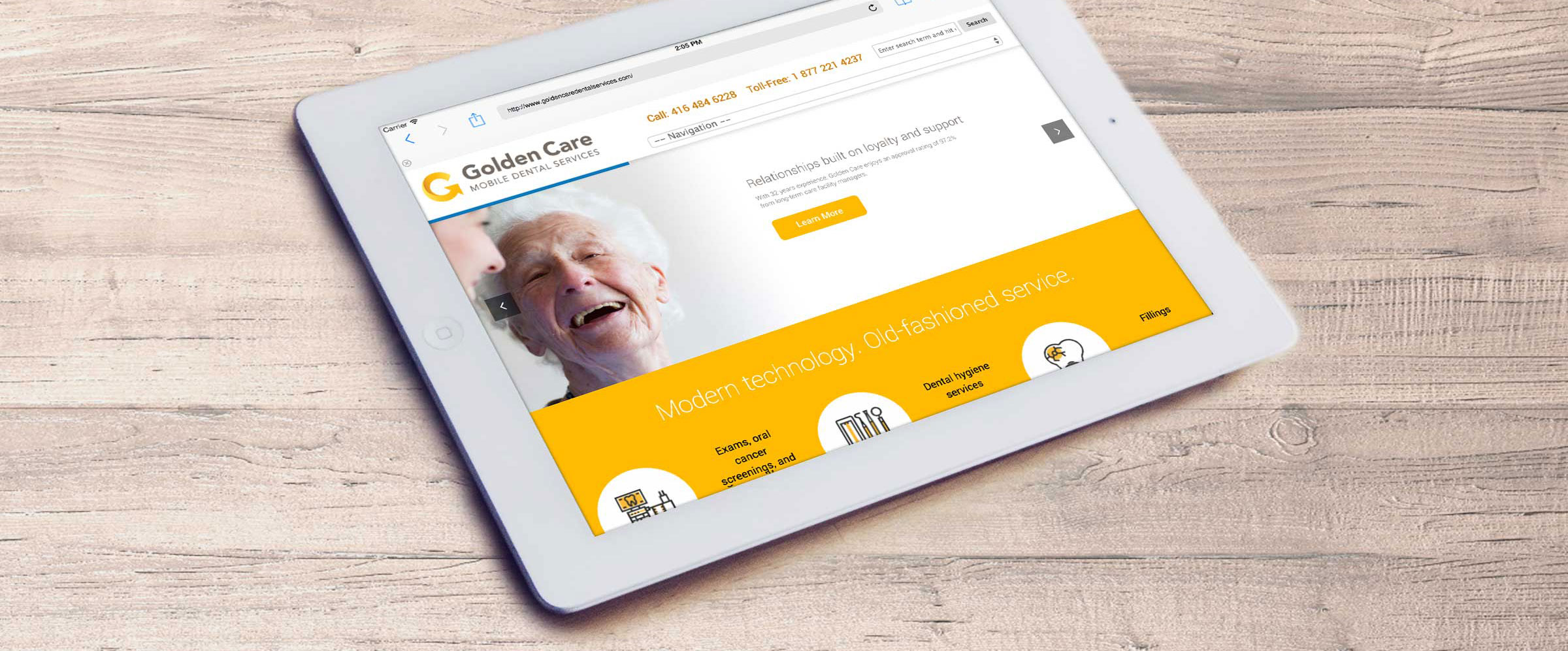 golden care dental website