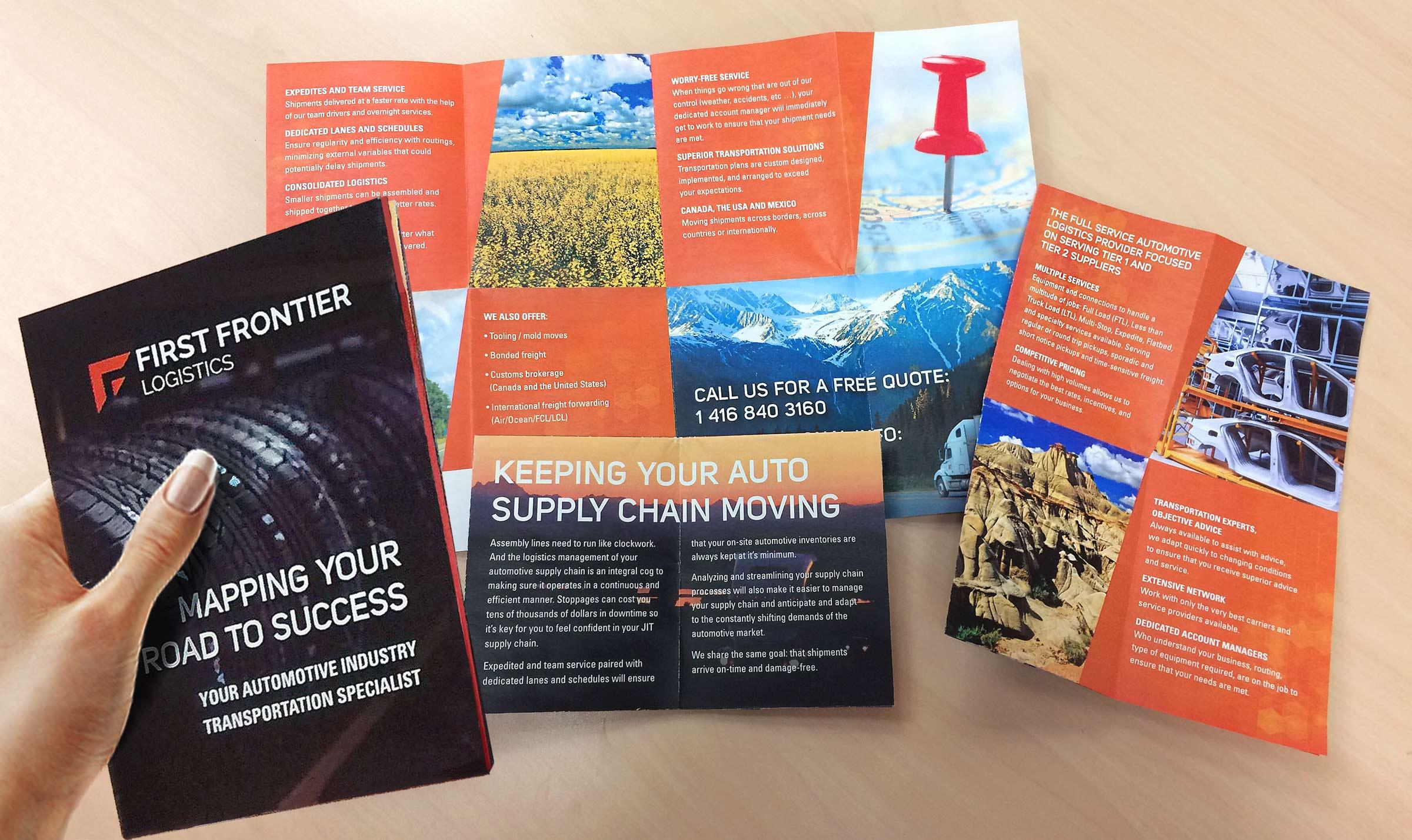 first frontier logistics brochure