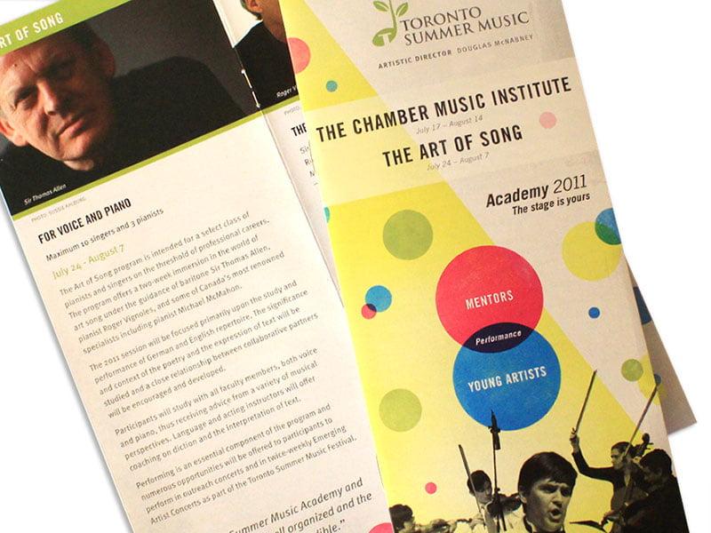toronto summer music brochure