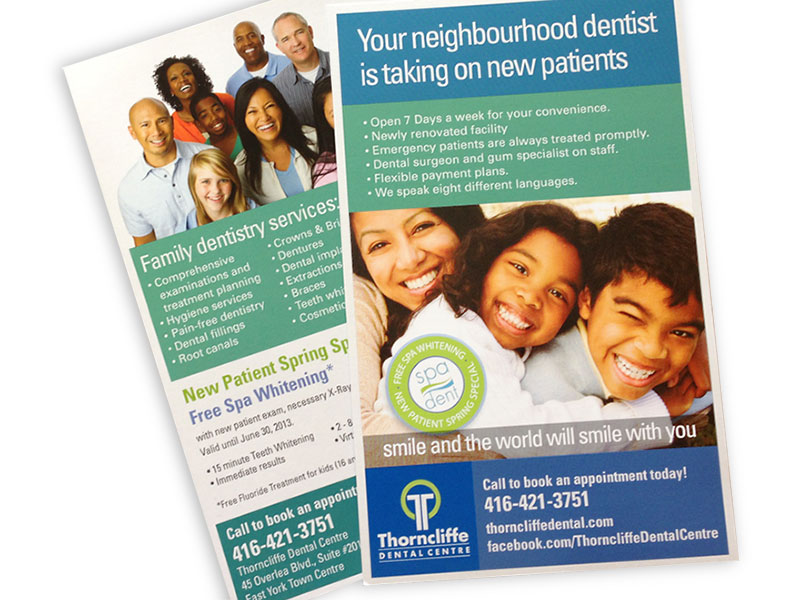 thorncliffe dental direct mail