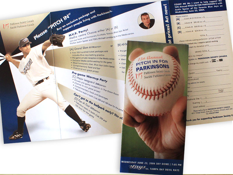 parkinsons society event collateral