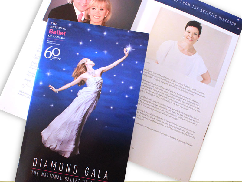 National Ballet of Canada event program