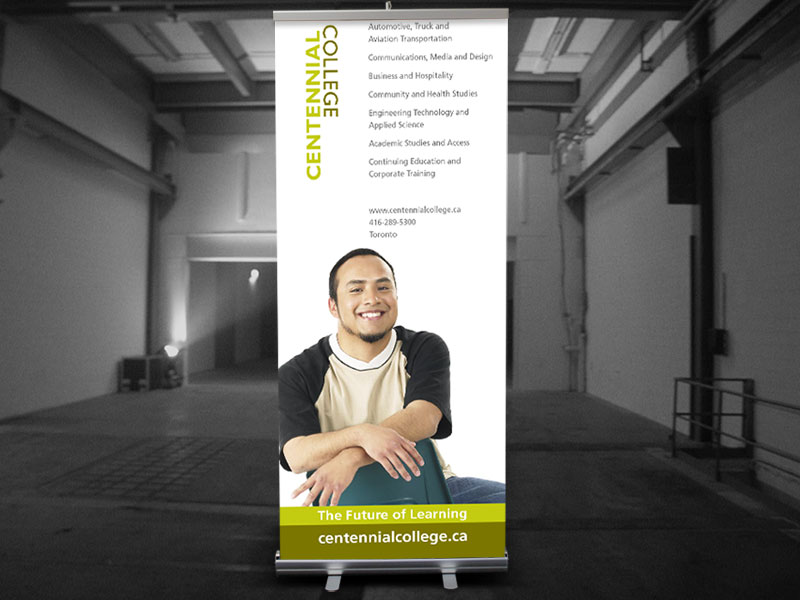 centennial college pull up banner