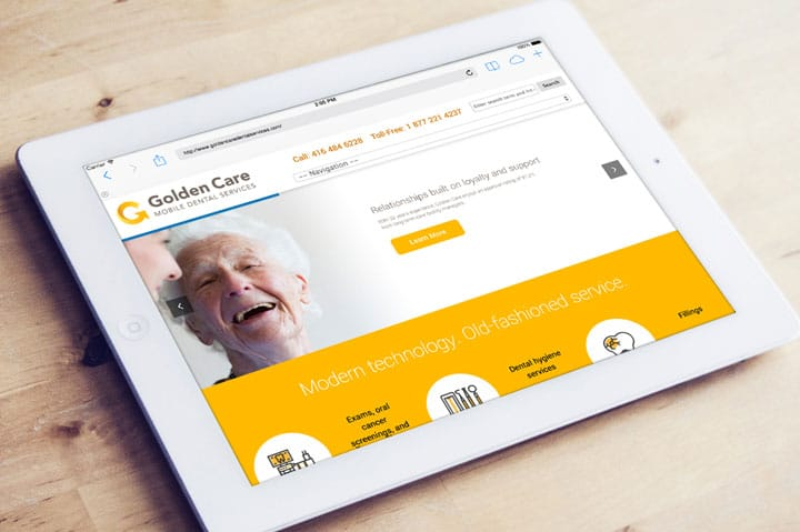 golden care dental-brand-development-toronto