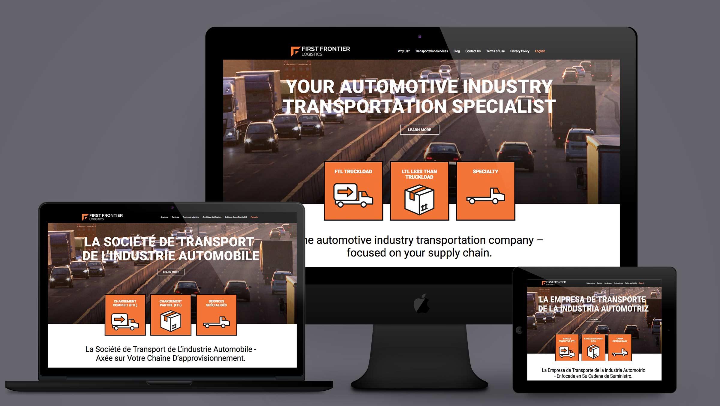 first frontier logistics website