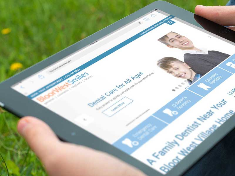 bloor west smiles website design-brand-development-toronto image