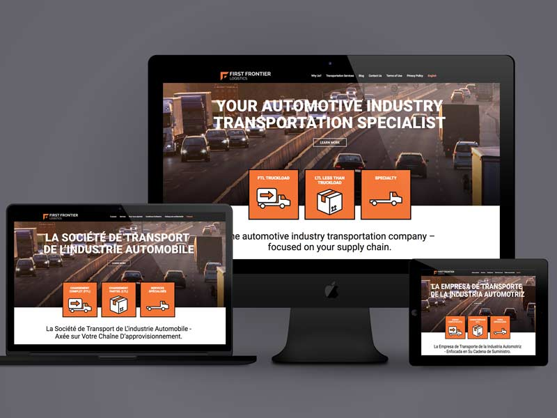 first frontier website design-brand-development-toronto image