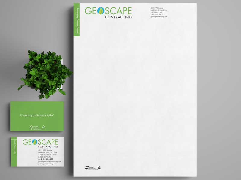 Geoscape-Stationery-brand-development-toronto image