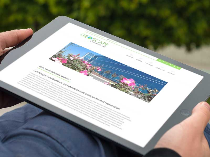 geoscape contracting website design-brand-development-toronto image