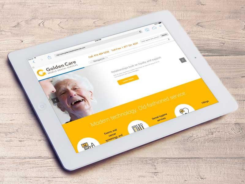 golden care dental website design-brand-development-toronto image