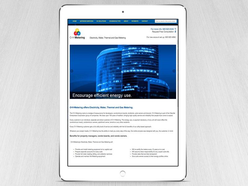 oh metering website design-brand-development-toronto image