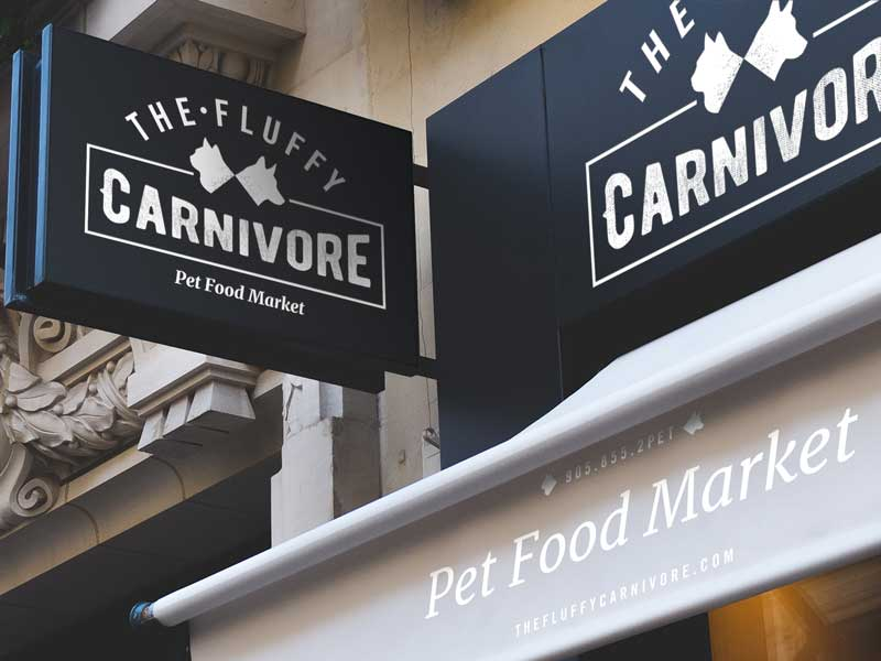 the-fluffy-carnivore-store-sign-brand-development-toronto image