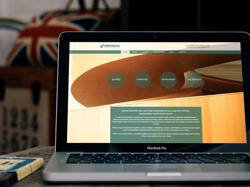 Provincial-store-fixtures-website design and development image