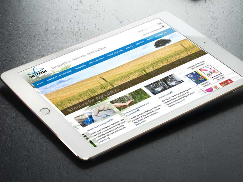 Siltech-website design image