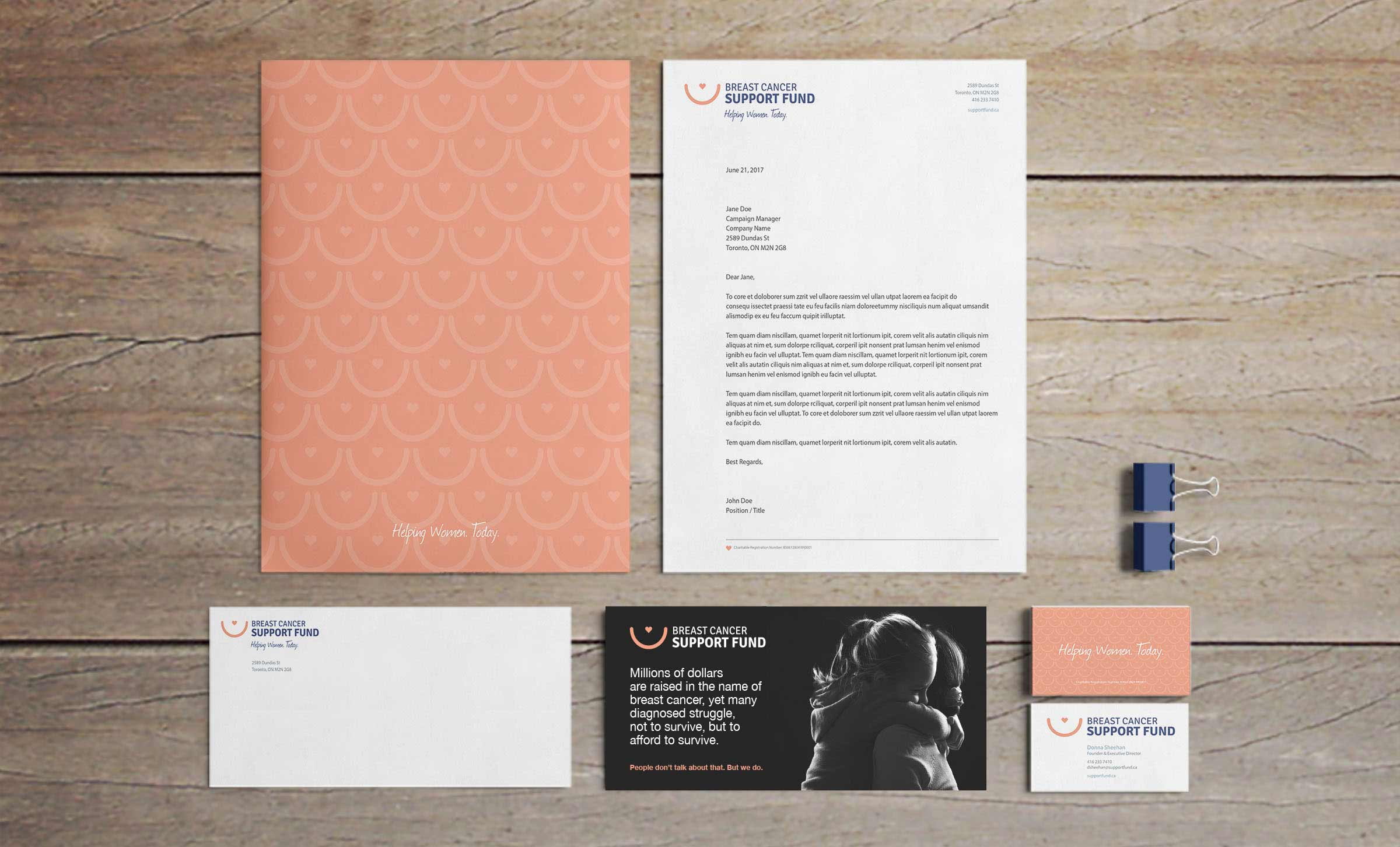 breast cancer stationery image