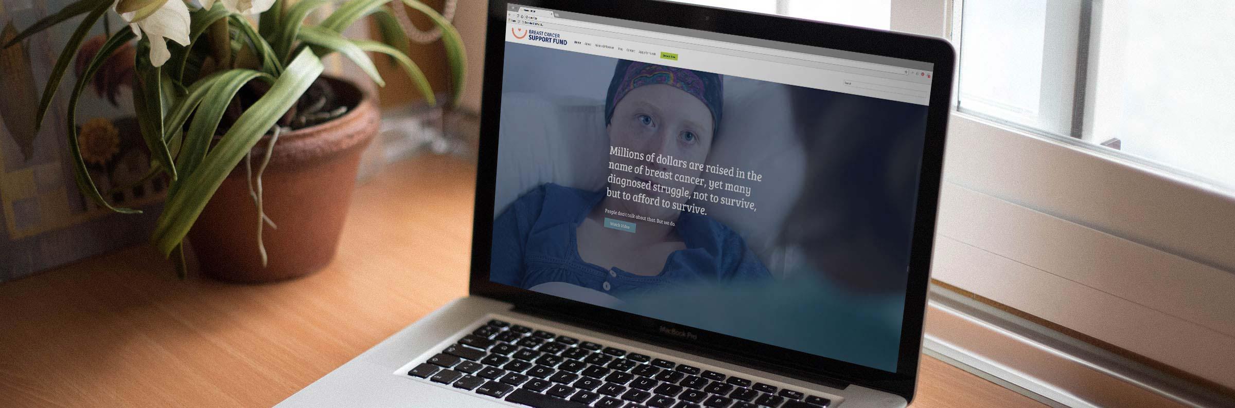 Breast Cancer Support Fund website image