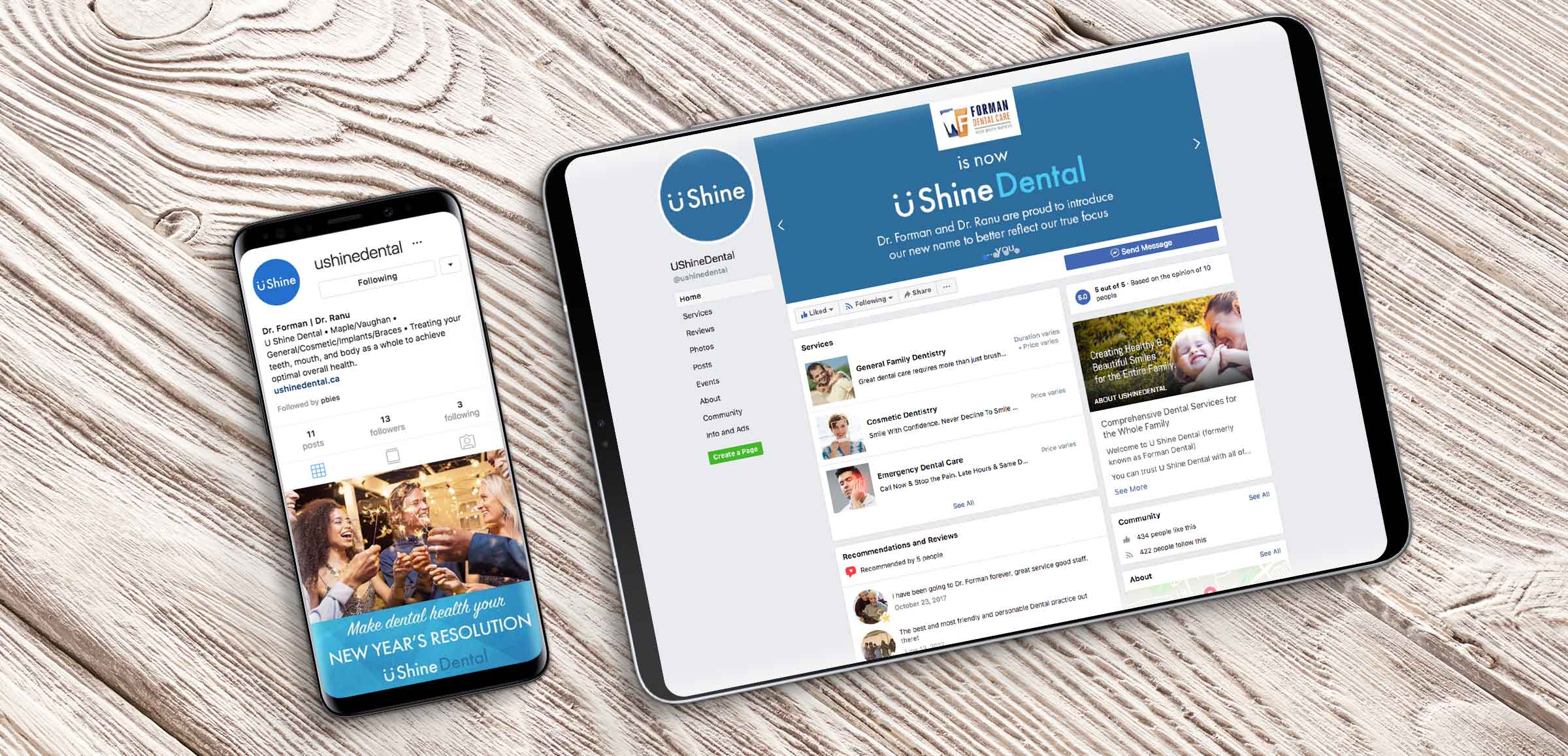 U-shine-dental-social-media