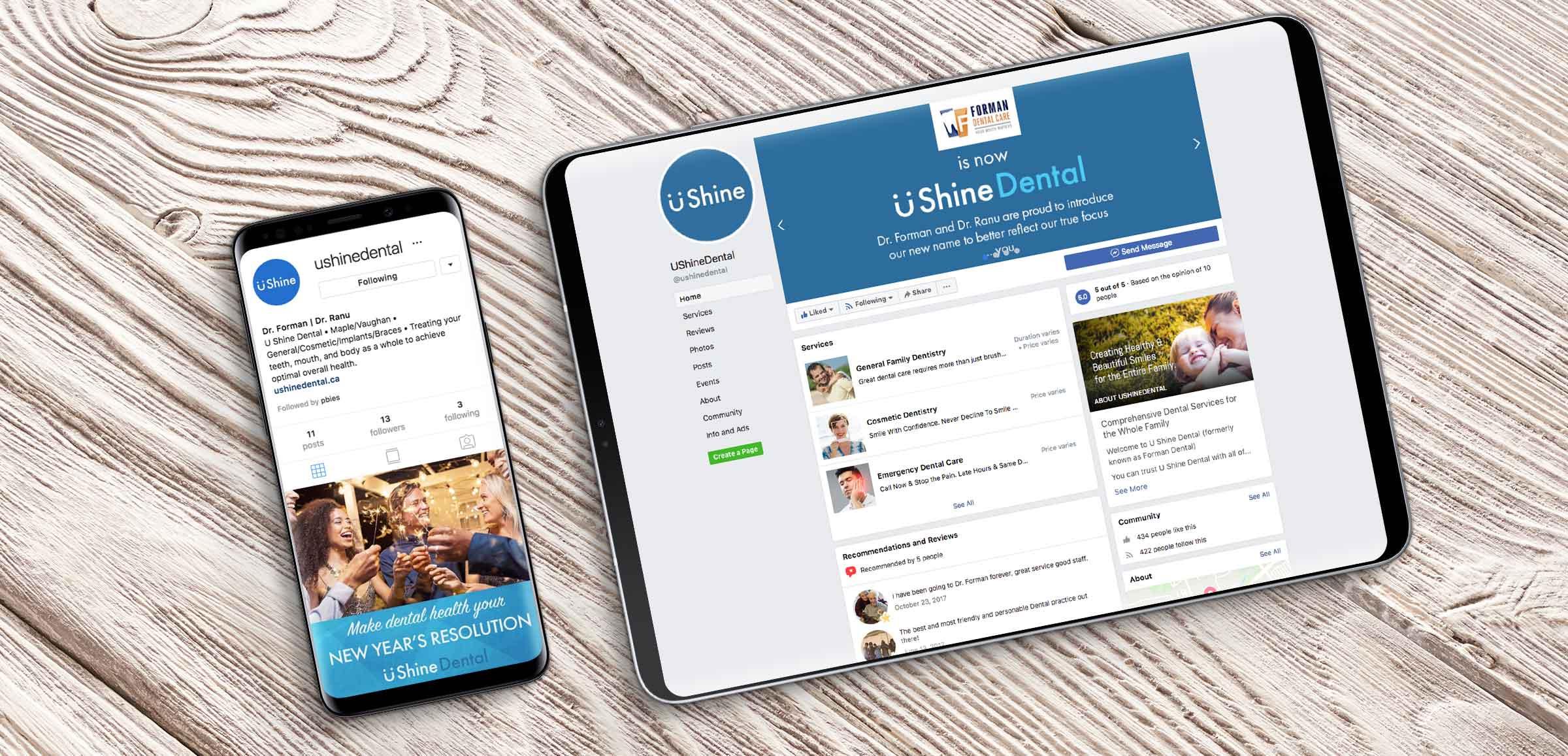 U-shine-dental-social-media