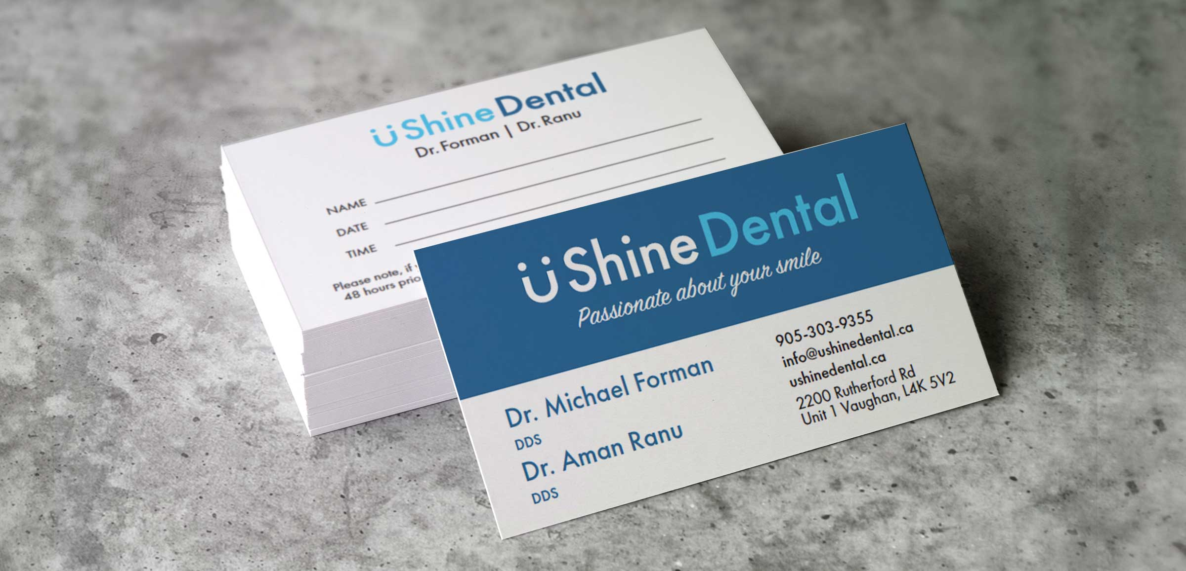 U-shinedental-business-cards