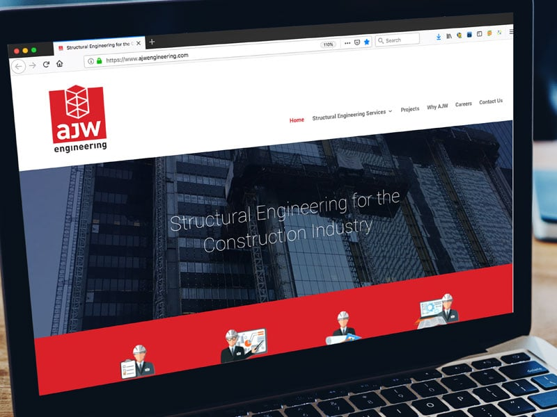 ajw engineering website design