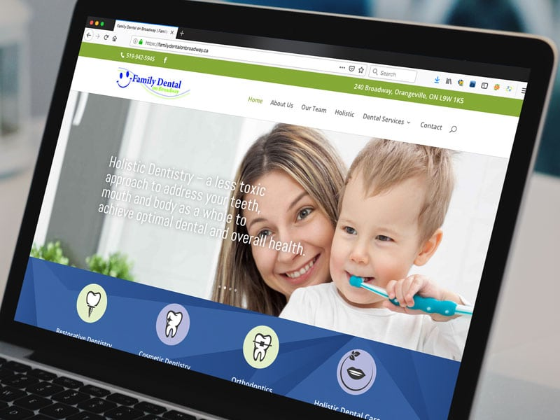 family dental website design