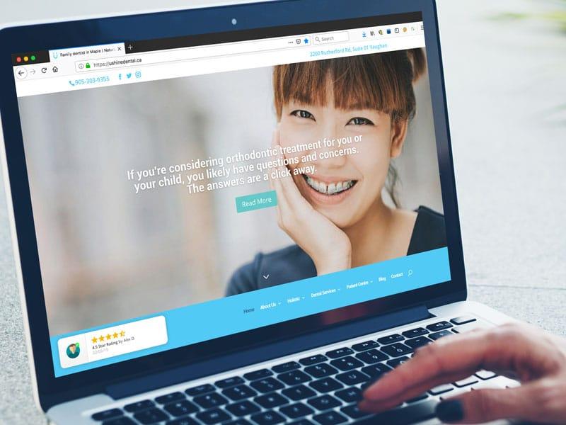 U Shine Dental website design
