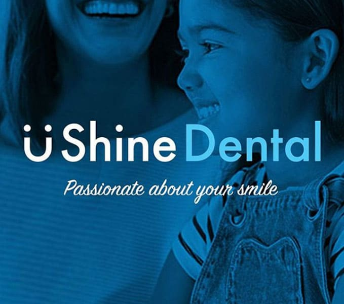 u-shine-dental-logo-on-a-background
